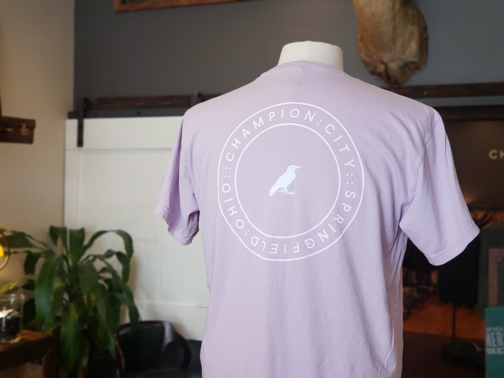 Comfort Color Crow Emblem in orchid