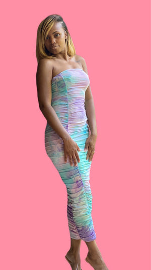 Cotton Candy Tube Maxi Dress