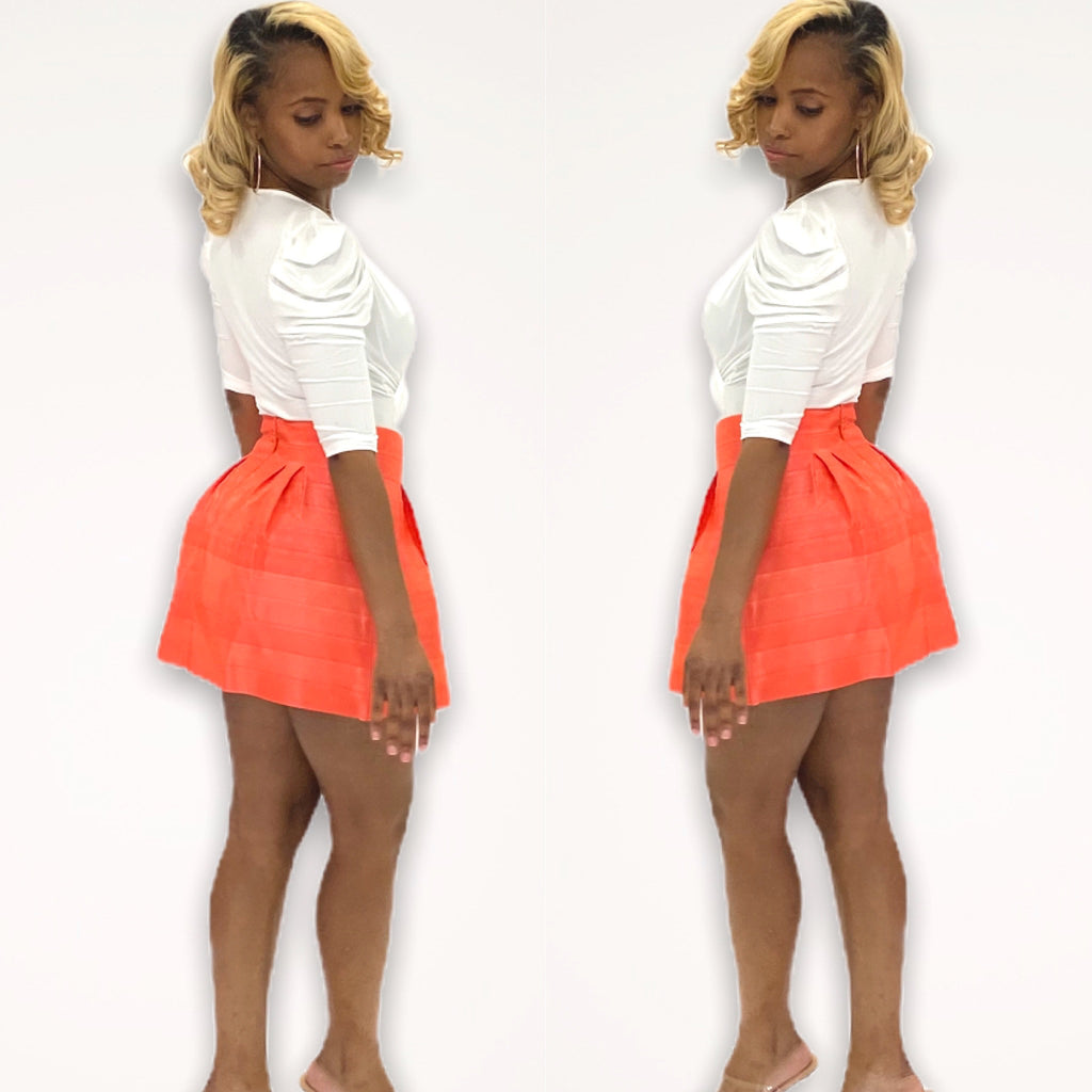 ORANGE CUTIE SKIRT