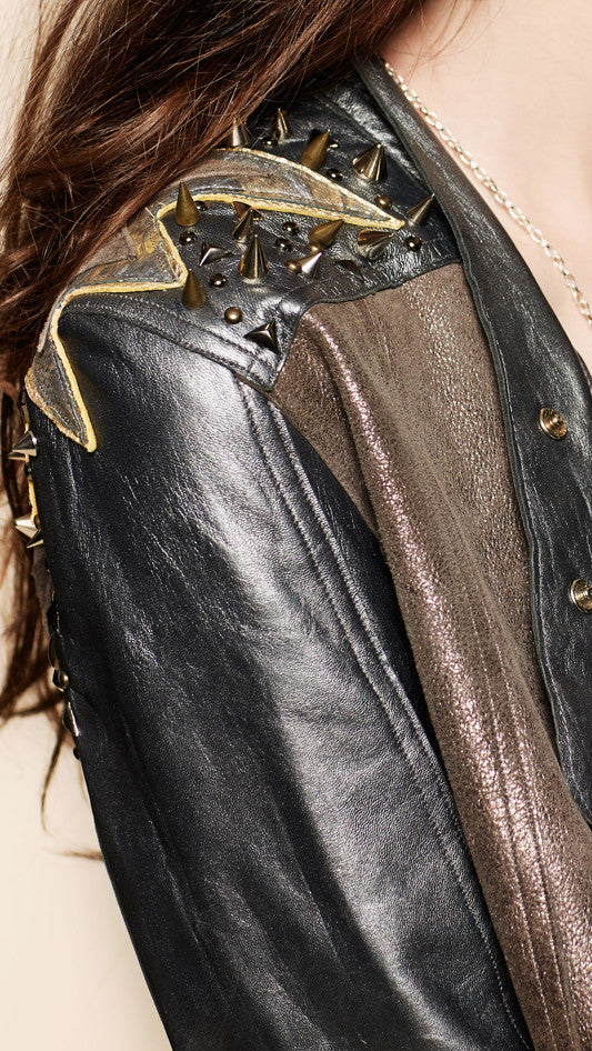 oda - zuzana moto jacket - up close