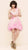 oda - bubblegum pink frothy dress - front view