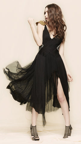 oda - Astarael Tulle and Chain Dress - front view