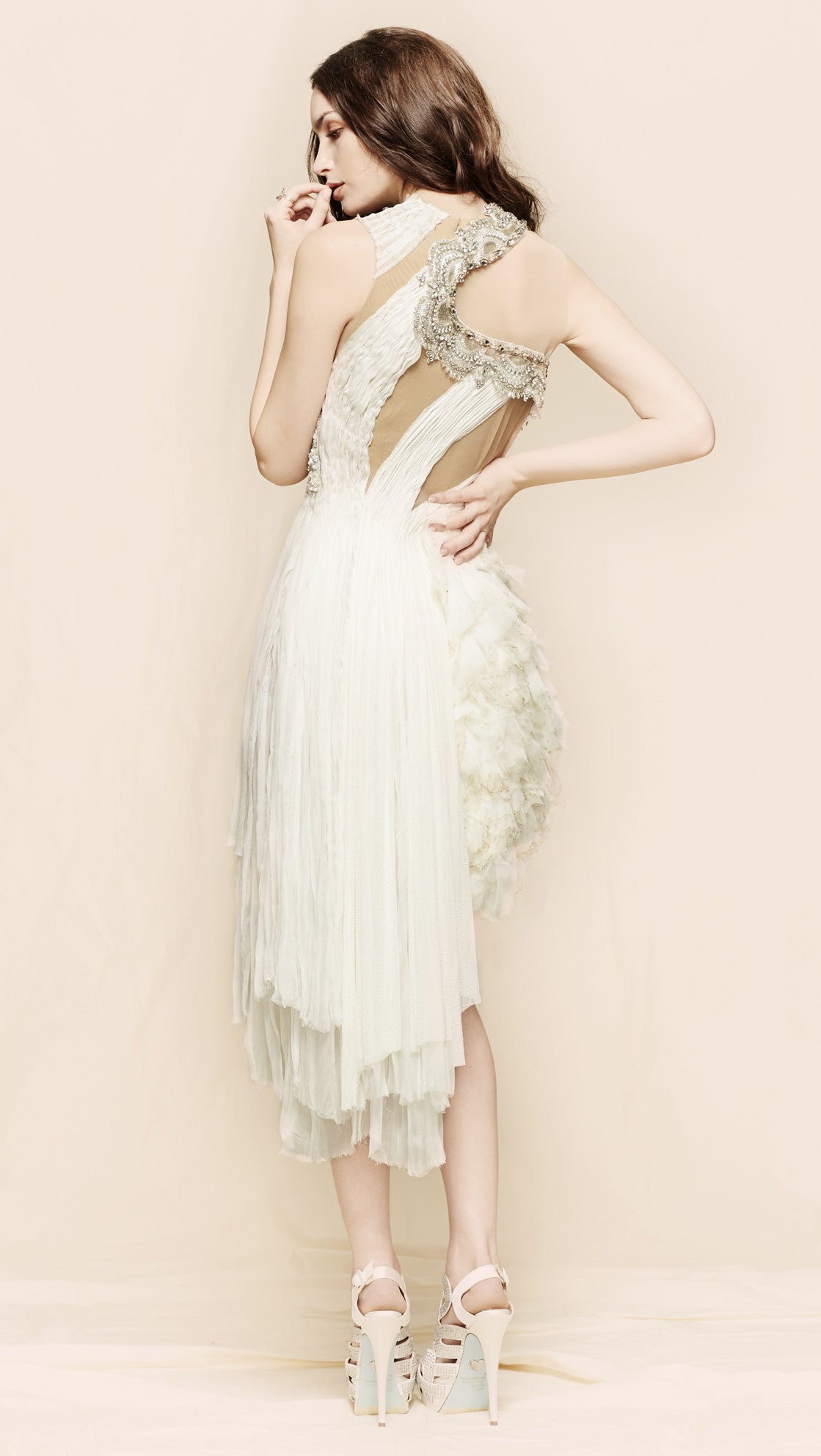 oda - forgotten kisses meringue dress - back view
