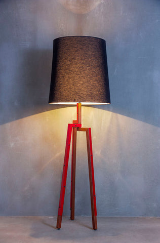 Benjamin Floor Lamp, Black Lampshade