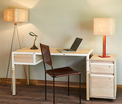 Kopenhagen Home Office Desk, Leftside Drawer