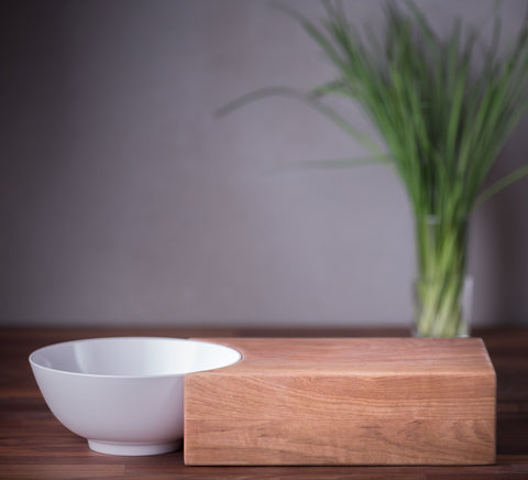 Chopping board with bowl