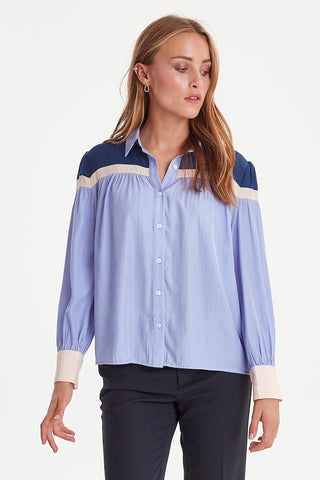 Long sleeved shirt blue