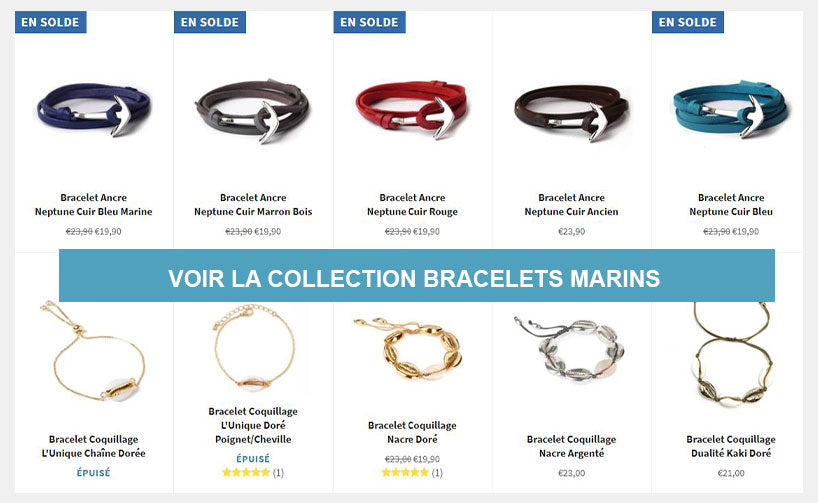 Bracelets marins collection