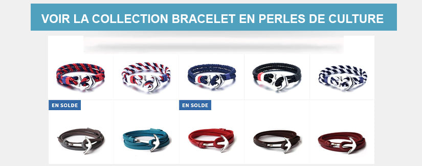 Collection Bracelets fermoir Ancre