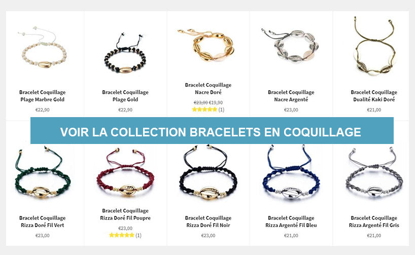 Bracelets en Coquillage Collection