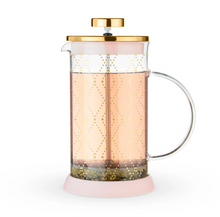 Load image into Gallery viewer, Pink & Gold Tea Press for One + Chai