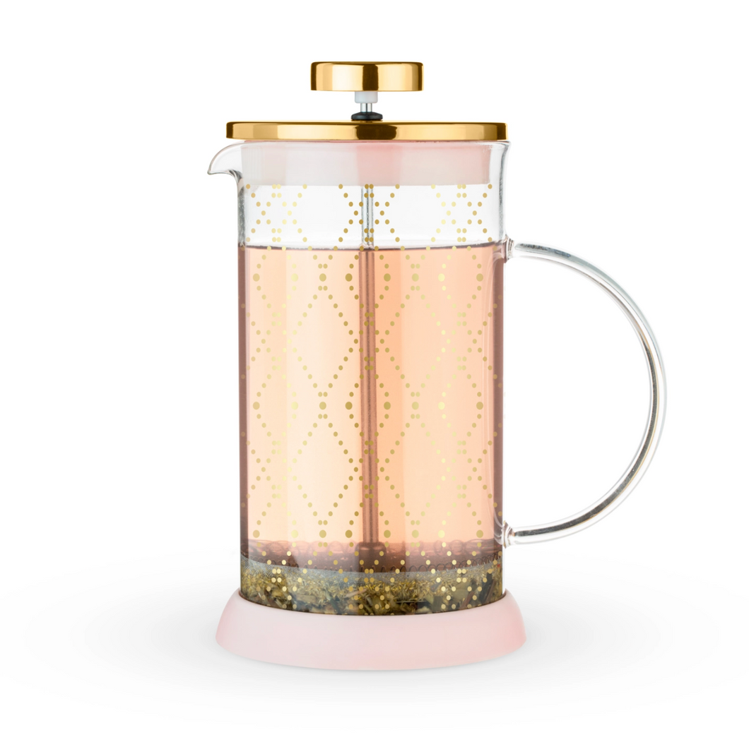 Pink & Gold Tea Press for One + Chai