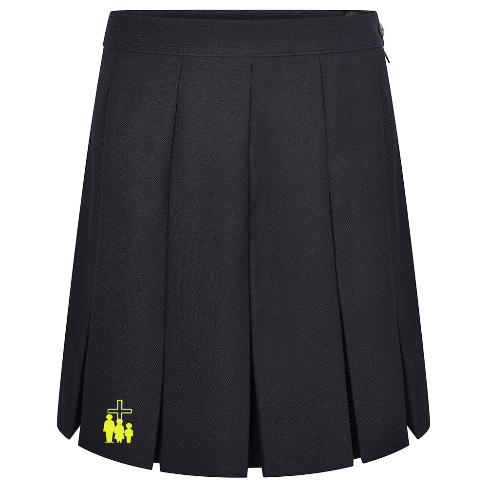 HF Box Pleat Navy Skirt