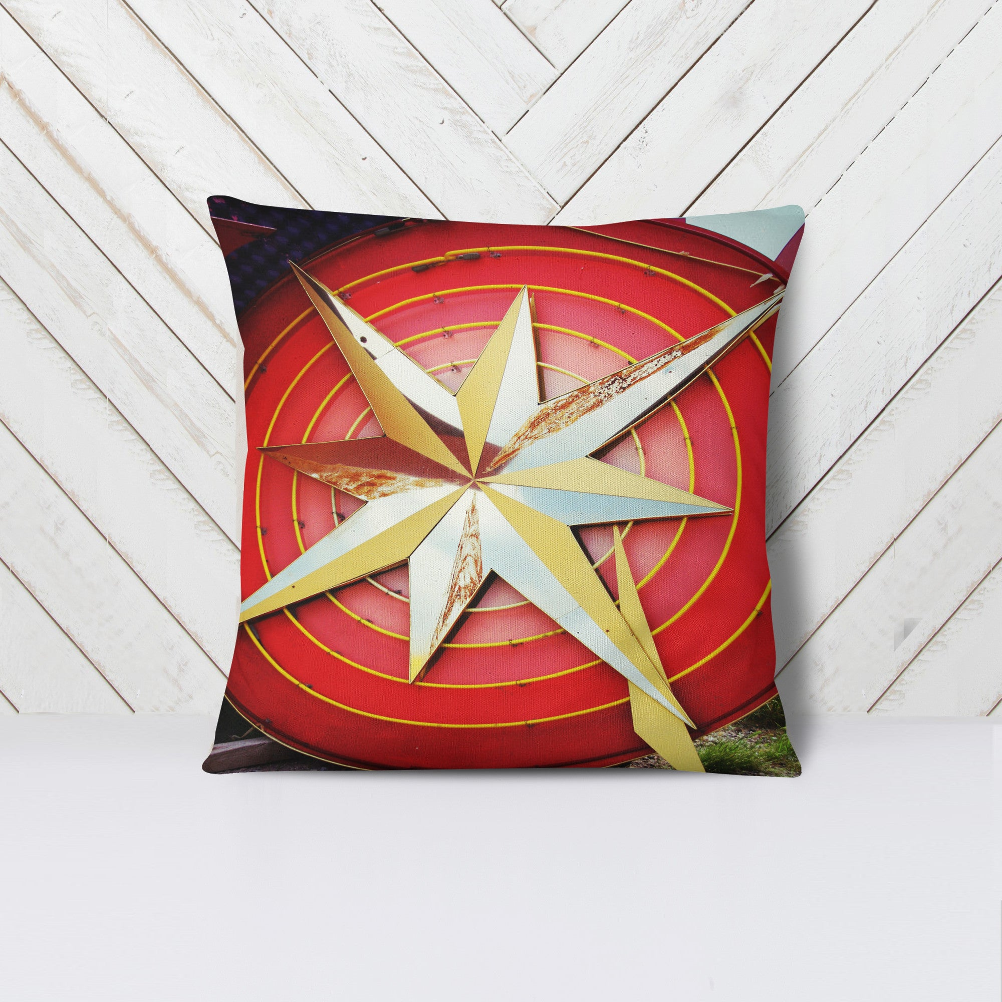 """Vintage STAR"" Throw Pillow"