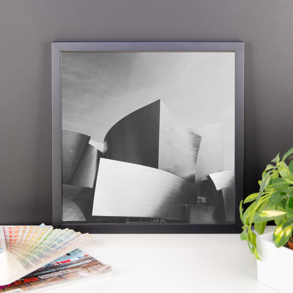 Framed B+W print of iconic LA architecture