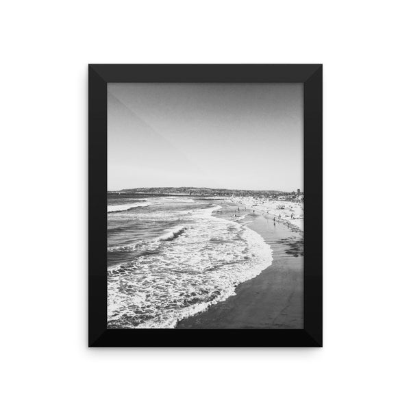 Oregon Coast Waves framed poster