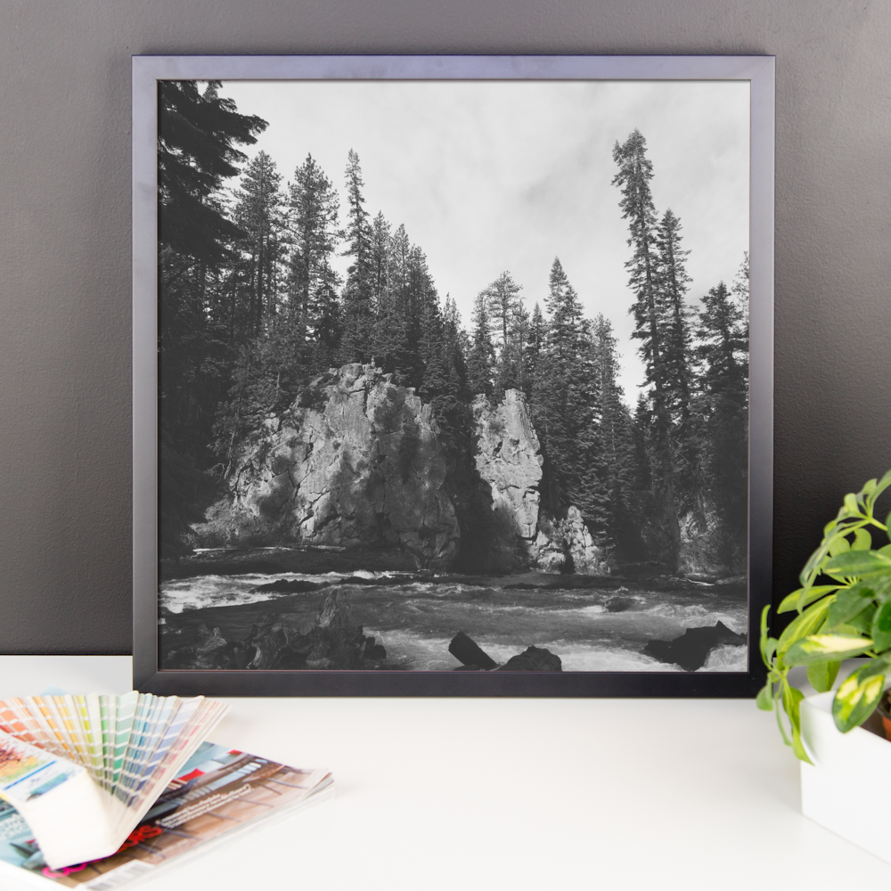 Framed B+W Photo print taken in Central Oregon
