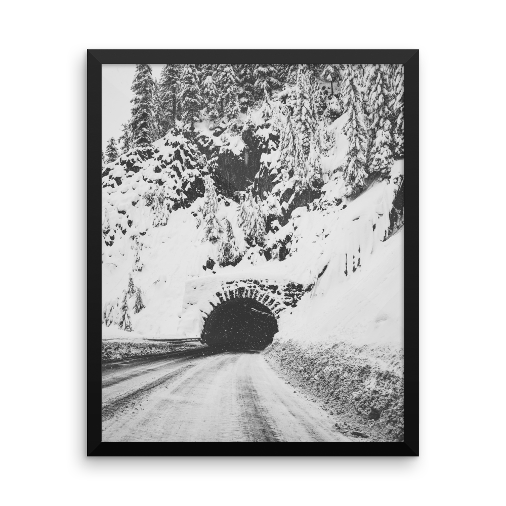 "B+W ""snowy tunnel"" framed photo print"