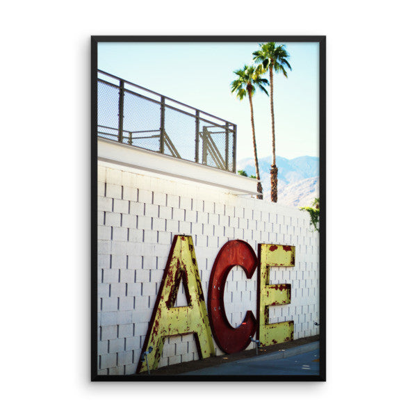 Framed ACE original photo