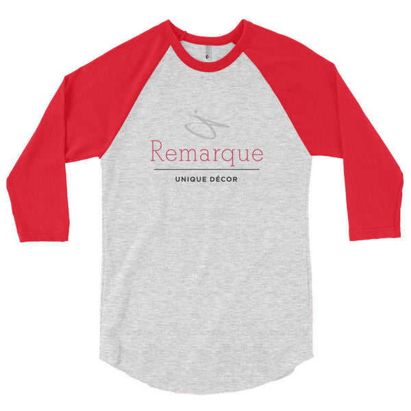 The Remarque Decor 3/4 sleeve raglan shirt