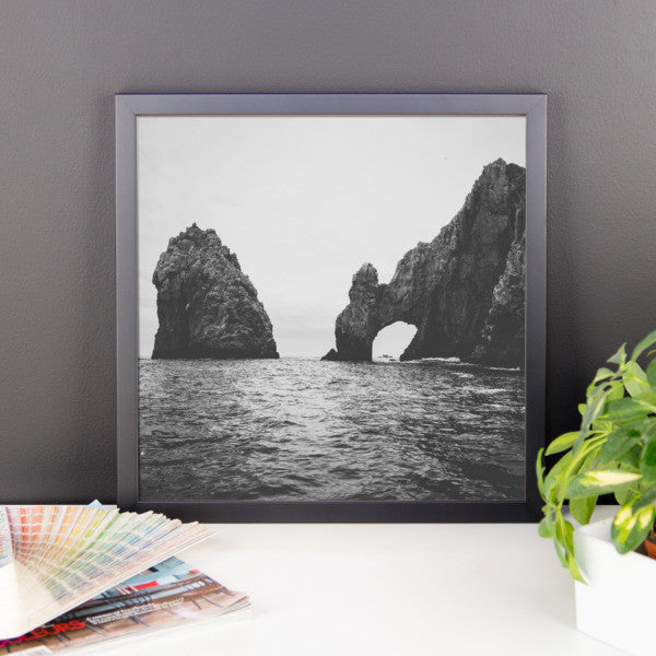 The Drinking Dragon aka Arch of Cabo Framed B+W Print