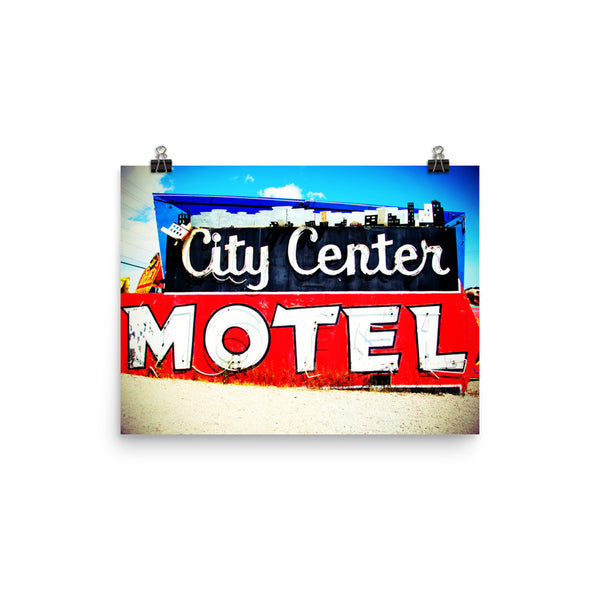 "Vintage Vegas ""City Center Motel"" sign"