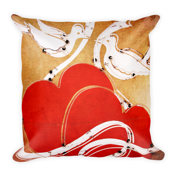 """Vegas love"" throw pillow"