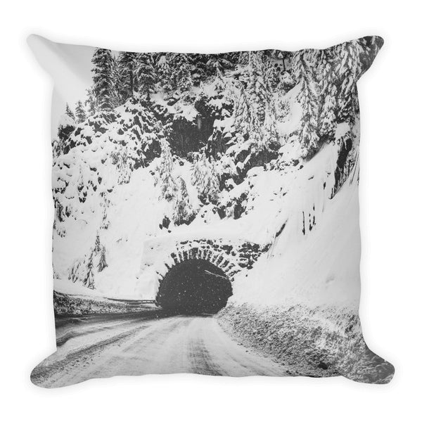 """Winter Tunnel"" Square Pillow"
