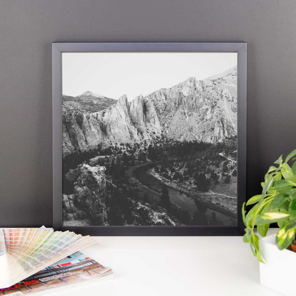 Framed B+W print of the Smith Rock area in Oregon
