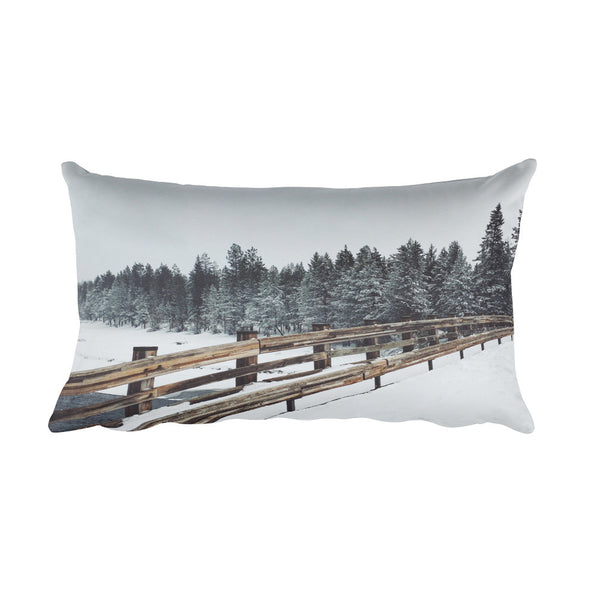 """Frozen Deschutes"" Rectangular Pillow"