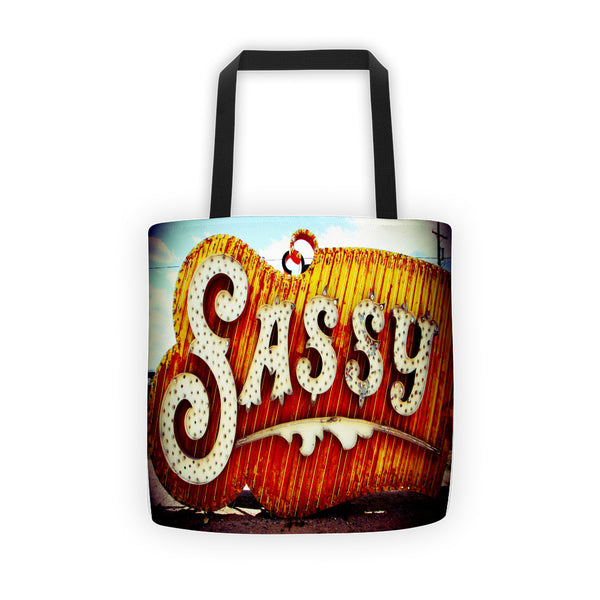 "The ""SASSY"" Remarque Decor Tote bag"