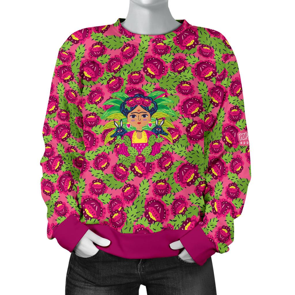 Frida Flowers/Cactus Sweater - Pop You