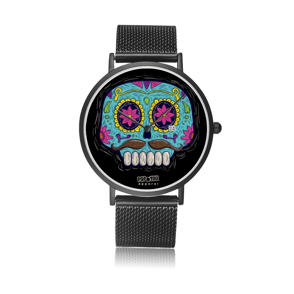 Sugar Skull Watch Mexican Folk Art - Pop You