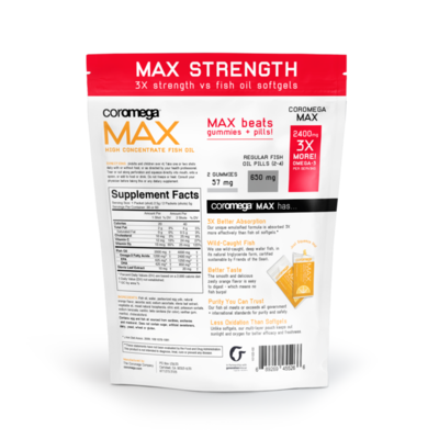 MAX Omega-3 Citrus Burst Bag | 30 Ct