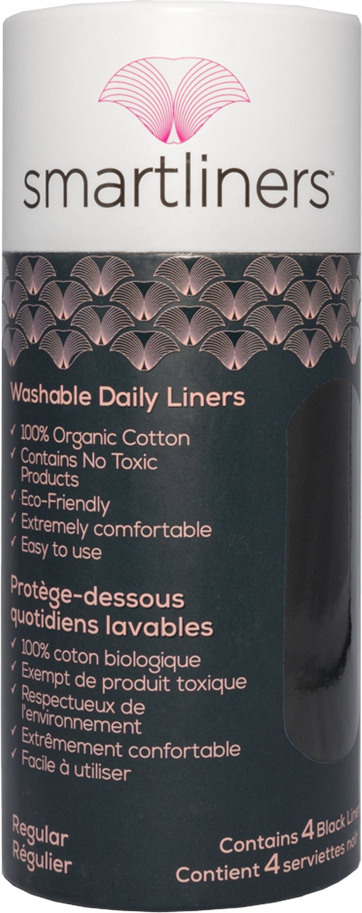 Smartliners™ 100% Organic Cotton Reusable Daily liners - Black