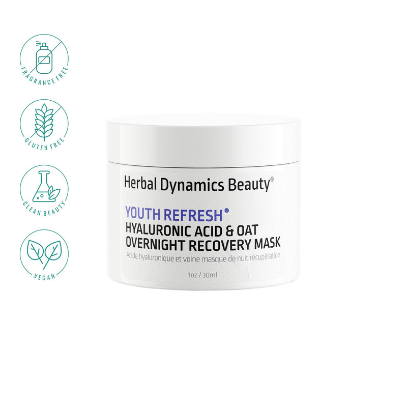Youth Refresh® Hyaluronic Acid & Oat Overnight Recovery Mask | 1 oz - wellness.global