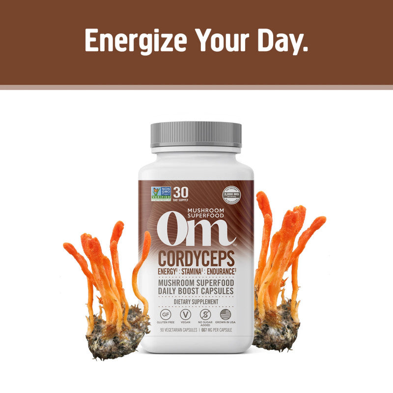 Mushroom Powder | Cordyceps | Capsules | 90CT - wellness.global