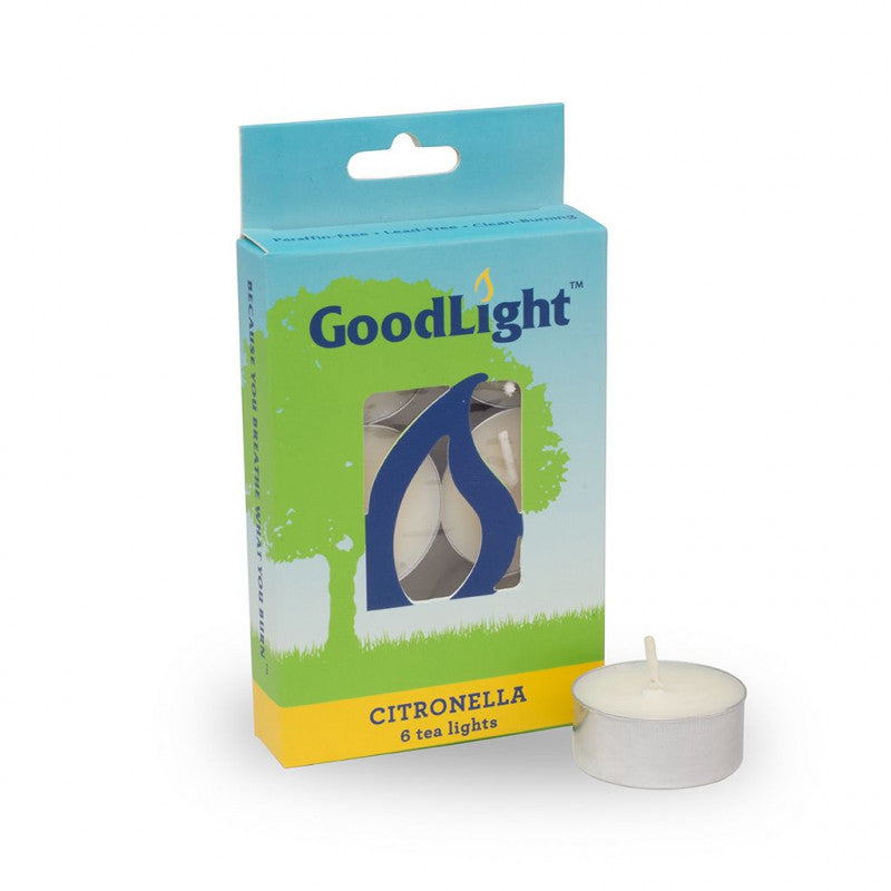 GoodLight | Citronella Tea Lights | 6-count - wellness.global