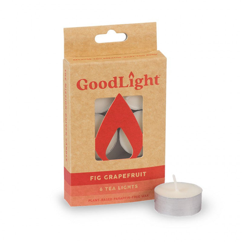 GoodLight | Fig Grapefruit Tea Lights | 6-count - wellness.global