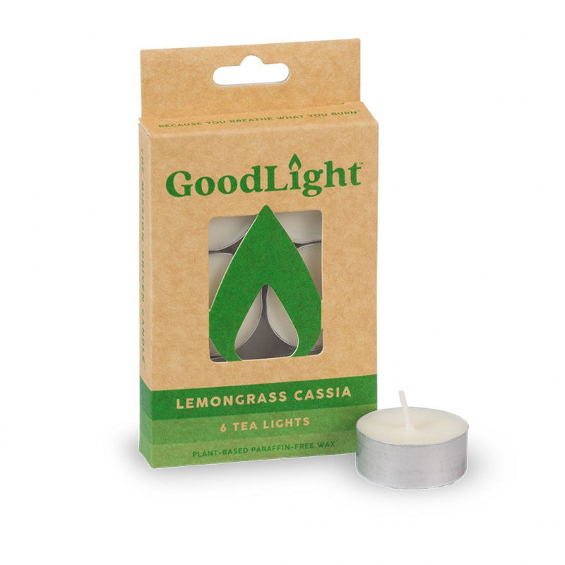 GoodLight | Lemongrass Cassia Tea Lights | 6-count - wellness.global