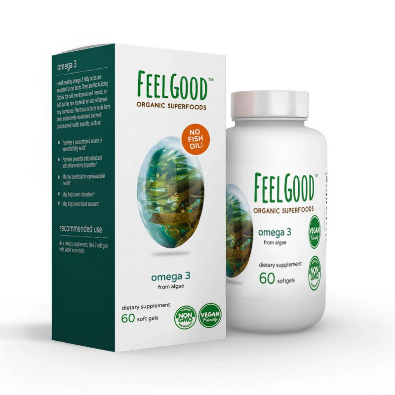 Omega 3 Vegan Softgels | 60 softgels - wellness.global