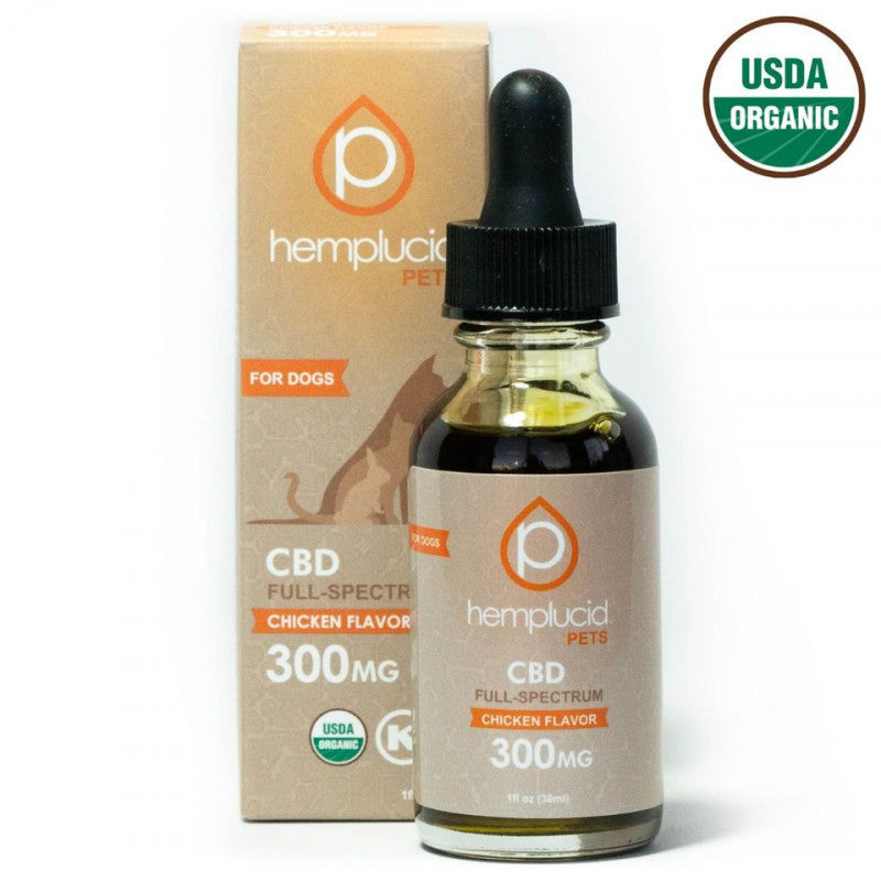 Pet CBD Oil | Organic Chicken Flavor 300mg | 1oz (30 ml) - wellness.global