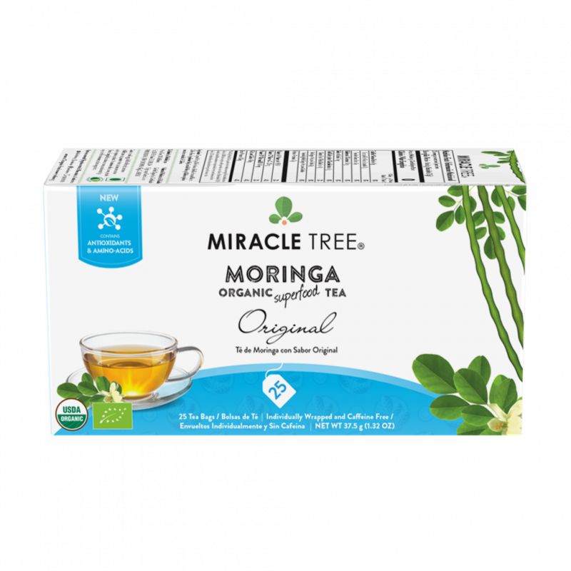 Organic Moringa Superfood Tea | Original | 25 Tea Bags - wellness.global