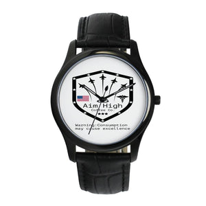 New! Aim High Men`s Leather Wrist Watch