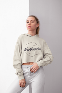Women's Cropped Hoodie - Sand