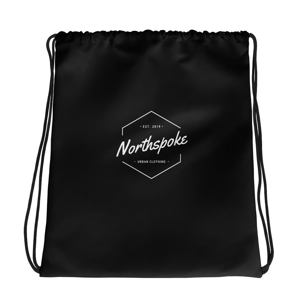EST.2019 Drawstring Bag - Black
