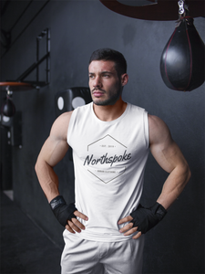 Men's EST.2019 Muscle Fit Tanktop - White