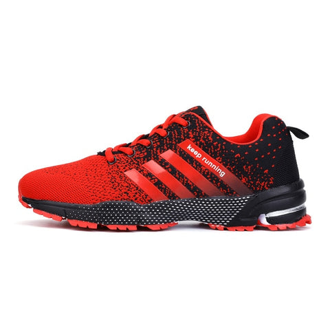 Mens Spring Sports Trainers - Red/Black