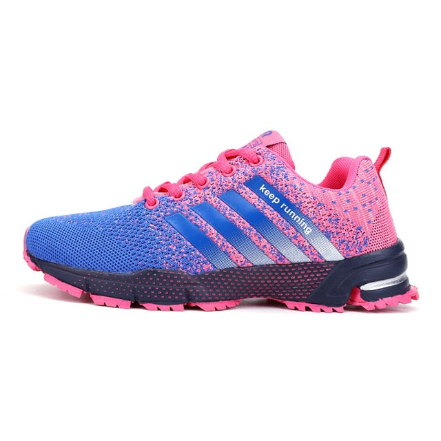 Mens Spring Sports Trainers - Pink/Blue