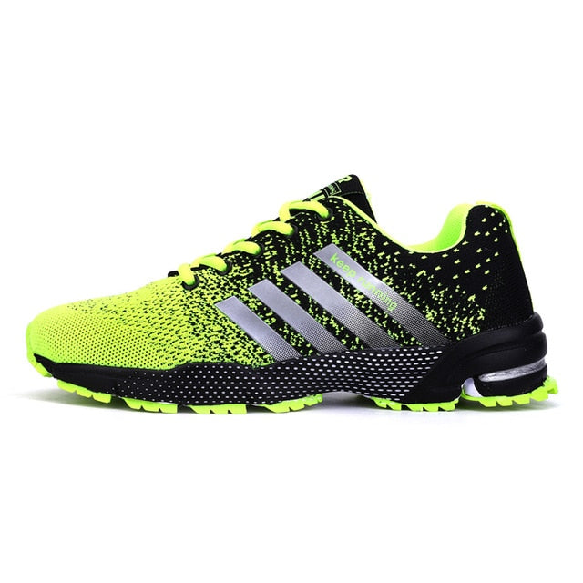 Mens Spring Sports Trainers - Yellow/Black